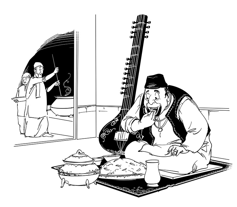 bengali story ustad cartoon illustration