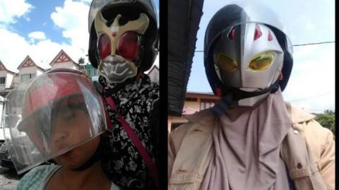 Kisah Sedih di Balik Fakta Seorang Ibu Pakai Topeng Ultramen Setiap Antar Anak ke Sekolah