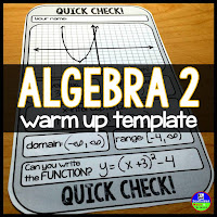 Algebra 2 warm up template
