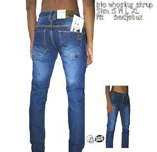 Celana Jeans Skinny Pria Premium