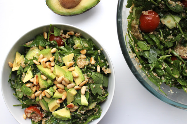 Spinach, Rocket and Avocado Quinoa Salad