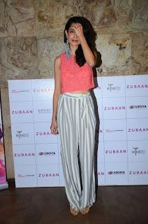 Actress Sarah Jane Dias Pictures at Zubaan Movie Screening 0002