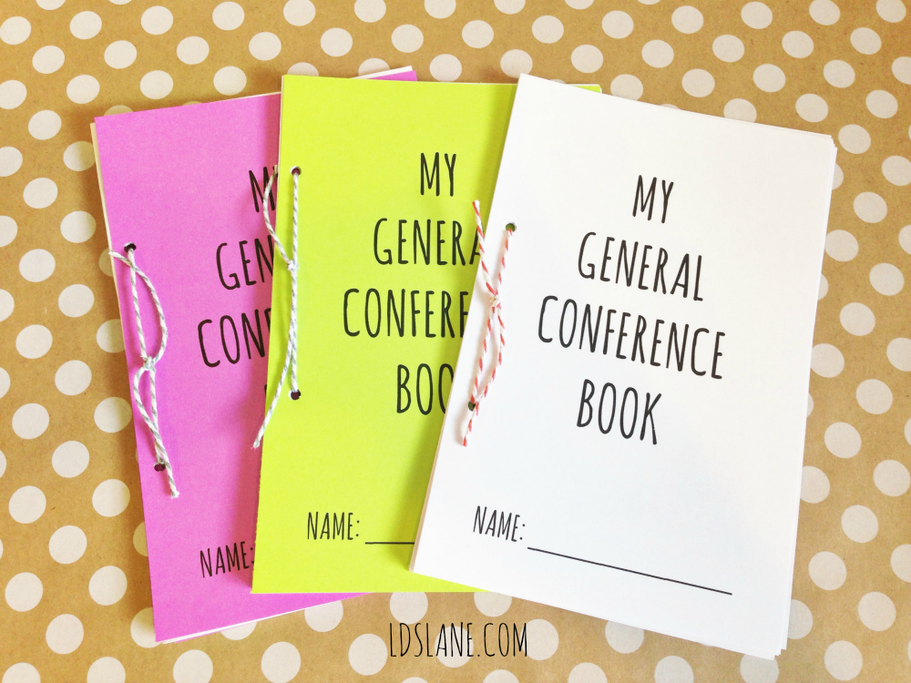 General Conference Mini Books by Ldslane.com - younger and older versions for the kids!