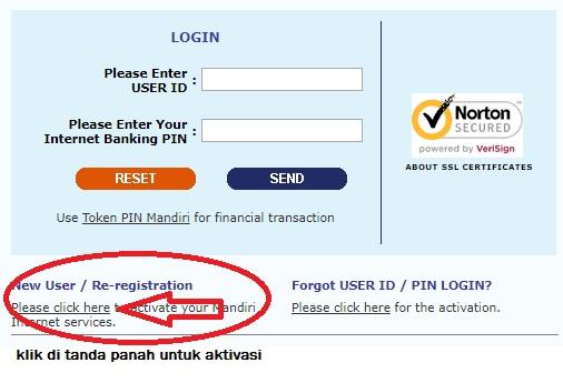 aktivasi internet banking bank mandiri