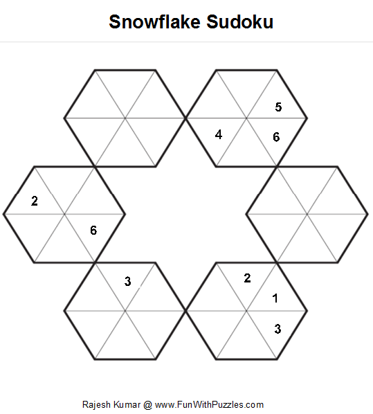 Snowflake Sudoku (Fun With Sudoku #10)