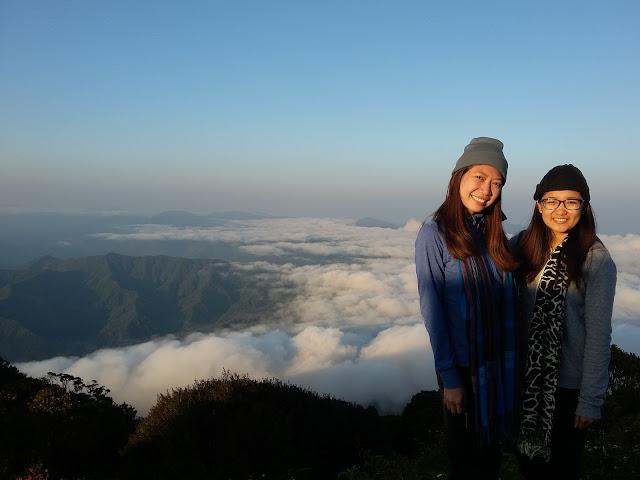 MJ and Sheryl at Mt. Amuyao Summit