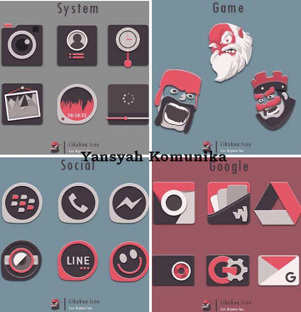 Download Cikukua Icon Pack v1.0.0