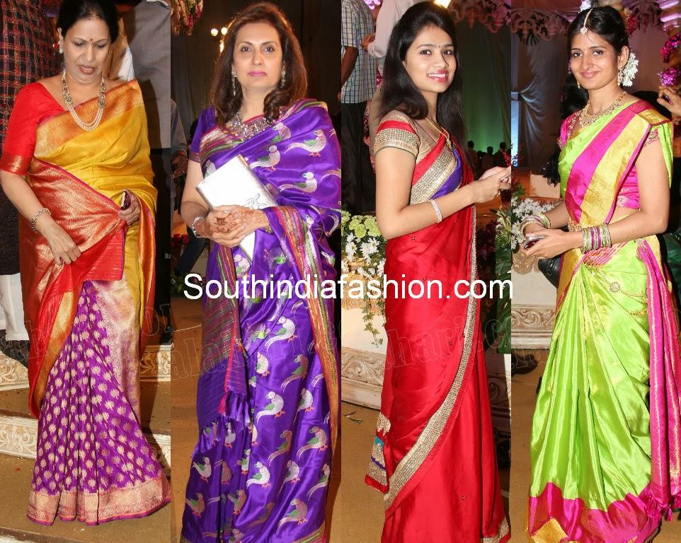Celebrities Wedding Sarees - YouTube