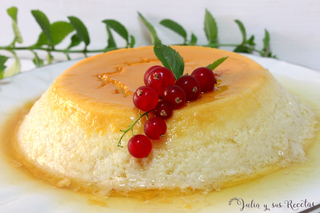 Julia y sus recetas flan de huevo y leche casero en olla - Flan de huevo al bano maria en olla express ...