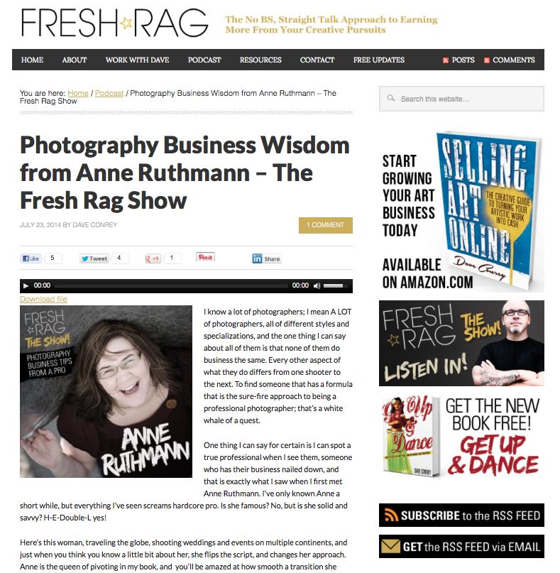 Fresh Rag Interview Anne Ruthmann