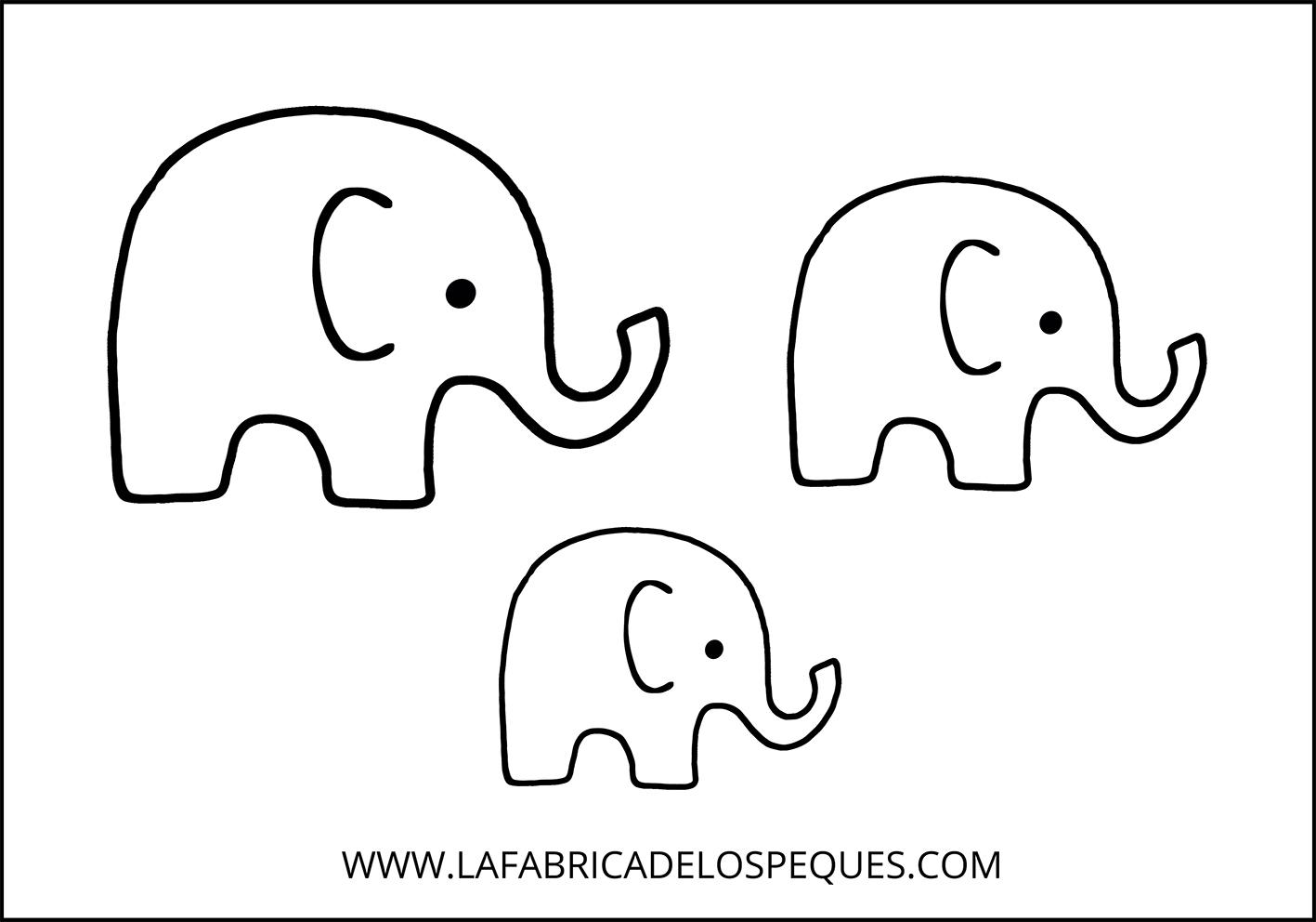 Dibujo Elefante Para Colorear E Imprimir: Elefante Animales Para Recortar