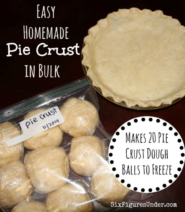 Easy Homemade Pie Crust in Bulk from Six Figures Under