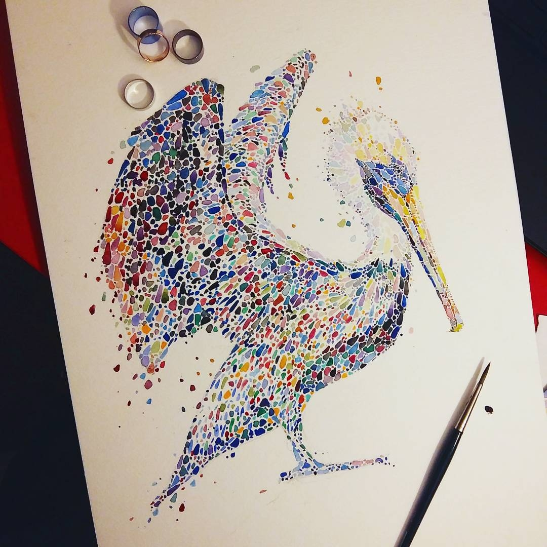 03-Pelican-in-Progress-Ana-Enshina-anaensh-Dot-and-Circle-Animal-Paintings-Ishihara-Test-www-designstack-co