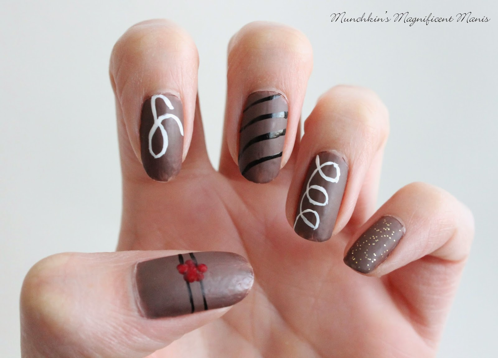 Chocolate nail design