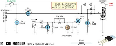 simple wiring diagram of capacitor discharge ignition cdi. Black Bedroom Furniture Sets. Home Design Ideas