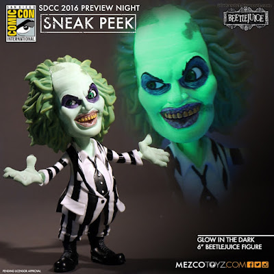 Mezco Glow in the Dark Beetlejuice Stylized Figure