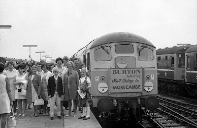 Burton staff outing to Morecambe - 1960s