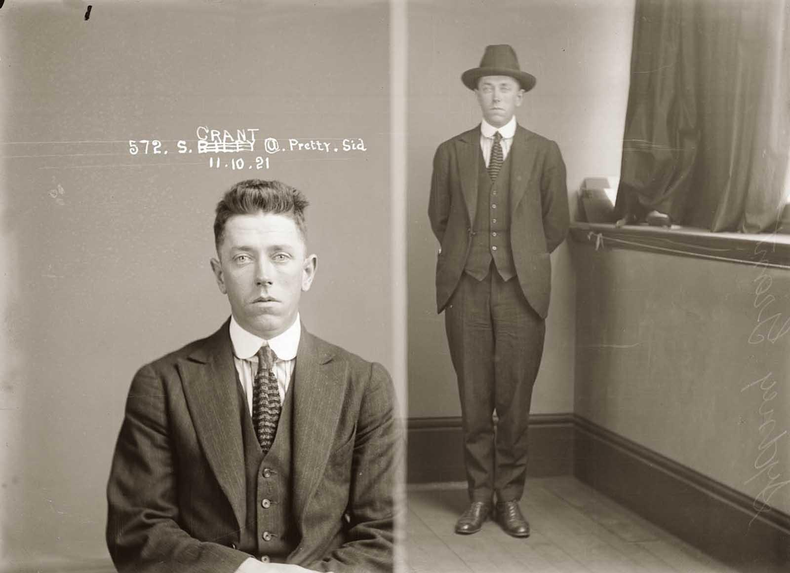 """Sidney """"Pretty Sid"""" Grant. 1921."""