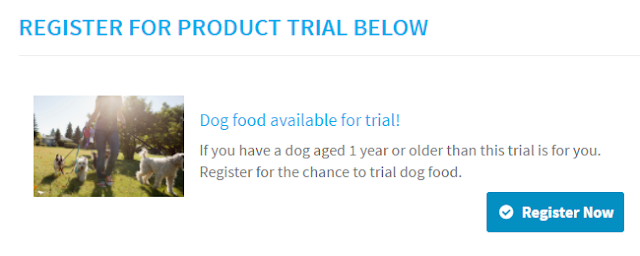 4LB Bag of Dog Food Free - Product Trial Opportunity!
