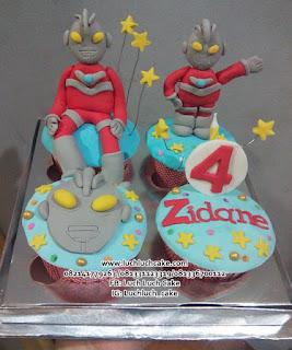 Cupcake Ultraman Lucu Untuk Anak Cowok
