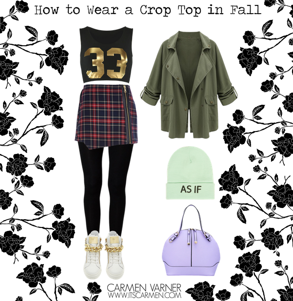 crop top in fall