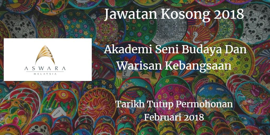 Jawatan Kosong ASWARA Februari 2018
