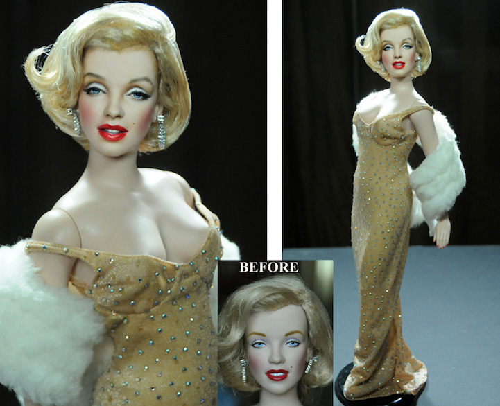 23-Marilyn-Monroe-Noel-Cruz-Hyper-Realistic-Make-up-on-small-Dolls-www-designstack-co