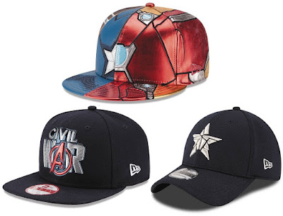Captain America: Civil War Hat Collection by New Era x Marvel Comics