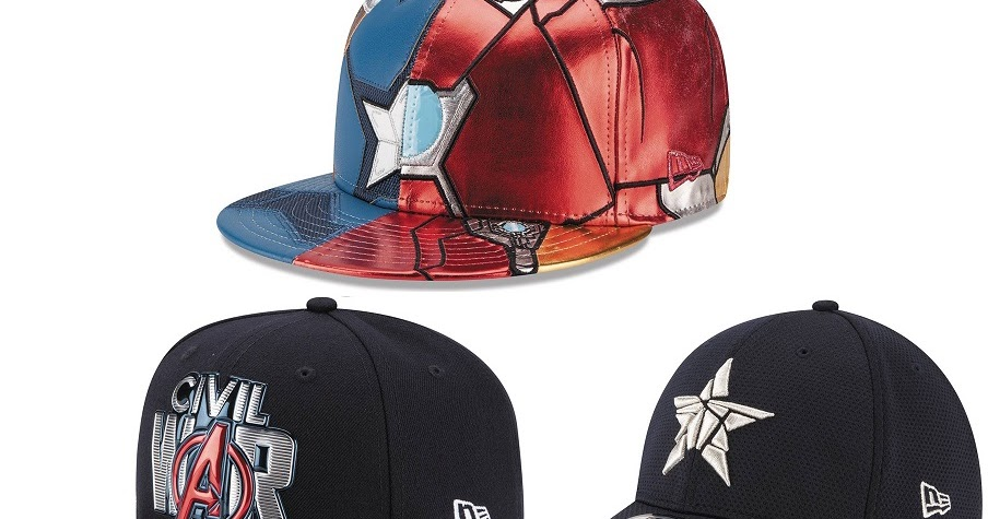 Captain America Civil War Hat Collection By New Era X Marvel Comics