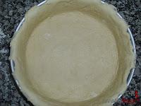 Cubriendo el molde con la masa