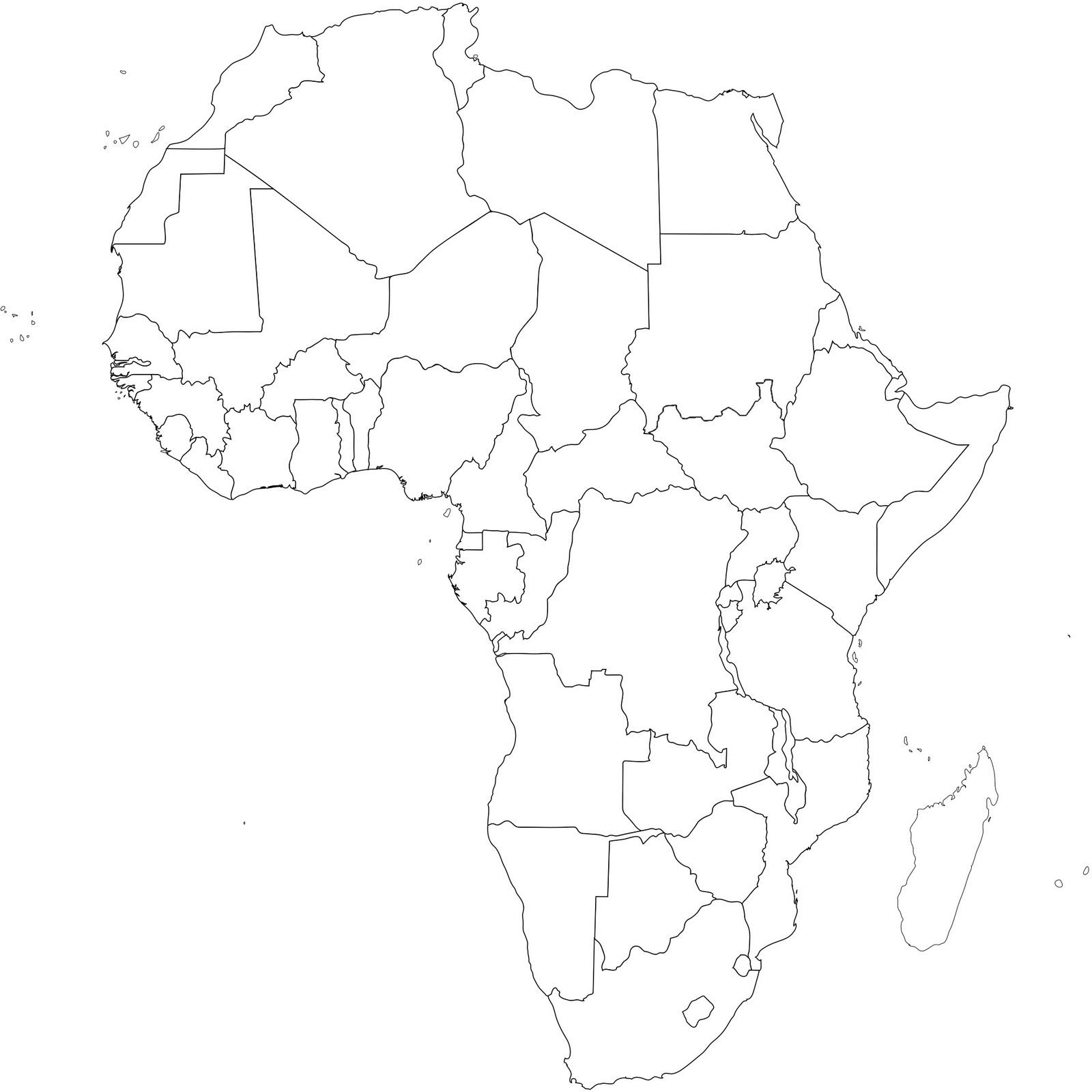 Mapa Africa Sin Nombres.Mapas De Africa Mapas Politicos Mapas En Blanco Mapas