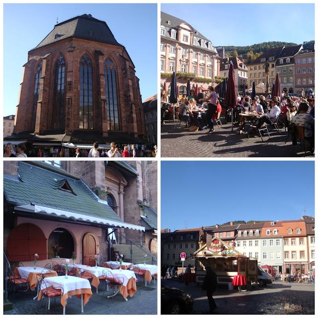 Marktplatz e Heiliggeistkirche em Heidelberg