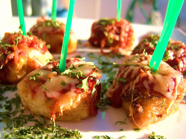 how to make chicken parmesan appetizers