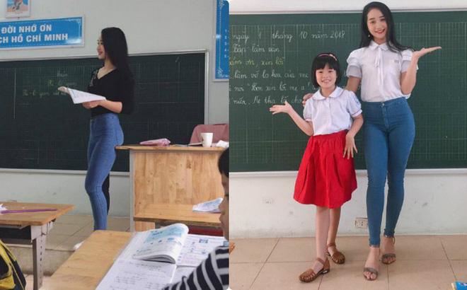 """Từ một tấm ảnh chụp trộm, cô giáo tiểu học được """"săn lùng"""" vì thân hình nóng bỏng"""