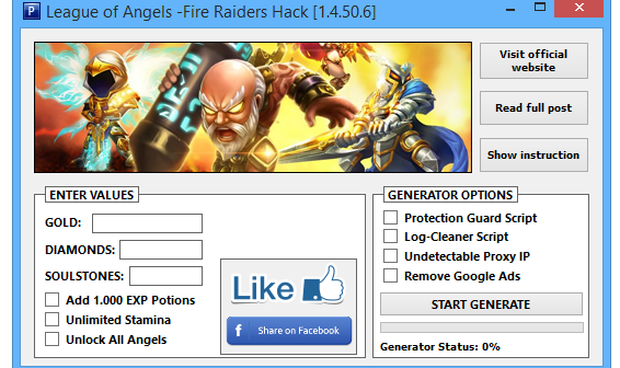 League of Angels Fire Raiders Hack Tool (Android - iOS)