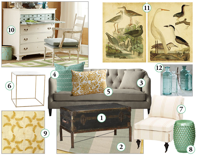 Pewter Sage Mood Board Monday Coffee Tables
