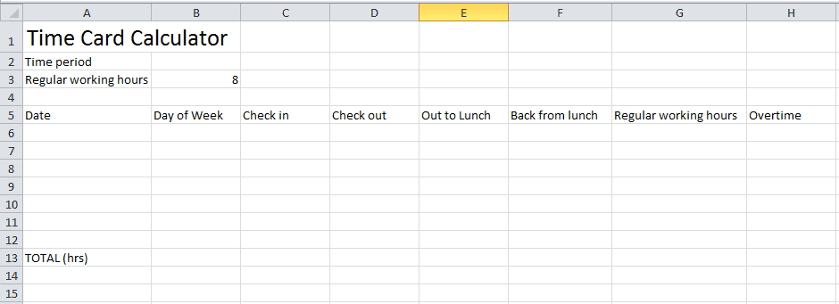 total hour excel from time format