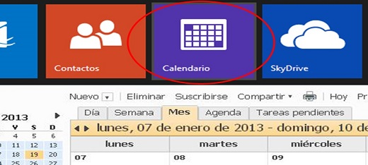Aprende a utilizar el calendario de Outlook.com