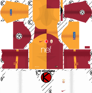 Galatasaray S.K. 2018/19 UCL Kit - Dream League Soccer Kits