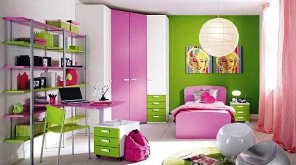 Bedroom Design for Minimalist Girls in Green
