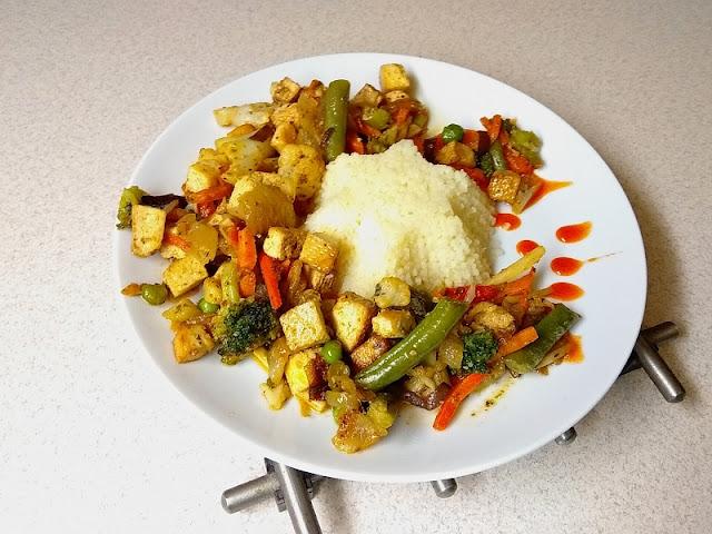 tofu,kusku,recept,rychly,fitness,zelenina