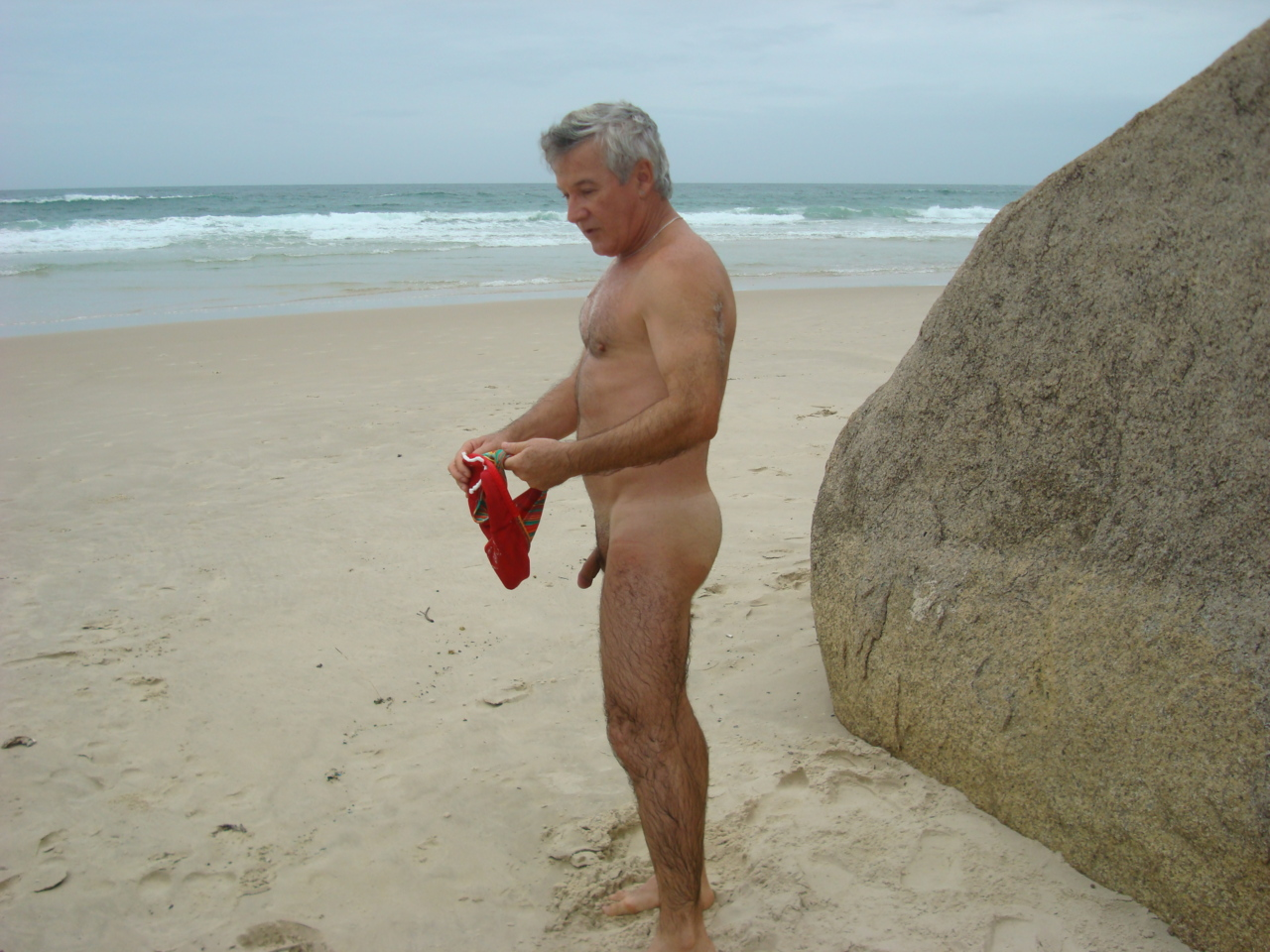 Naked male in beach-9324