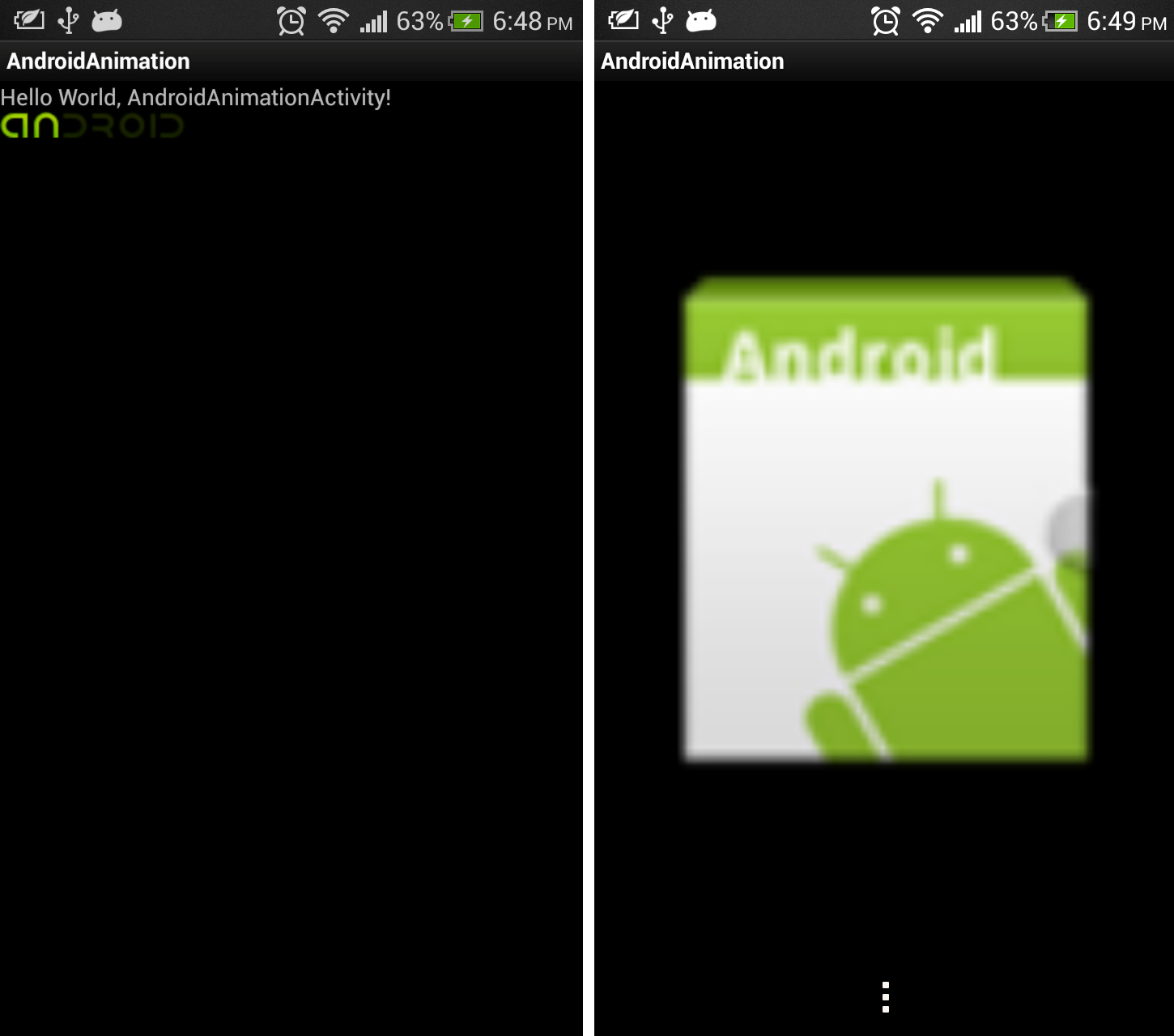 Android-er: Start main activity after splash screen with animation