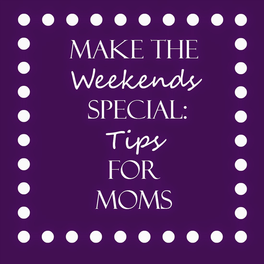 Tips for stay at home moms