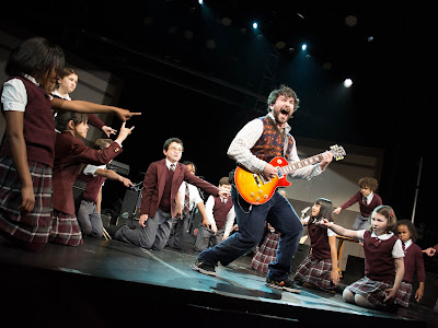 Alex Brightman and the cast of School of Rock, Photo Credit Timmy Blupe