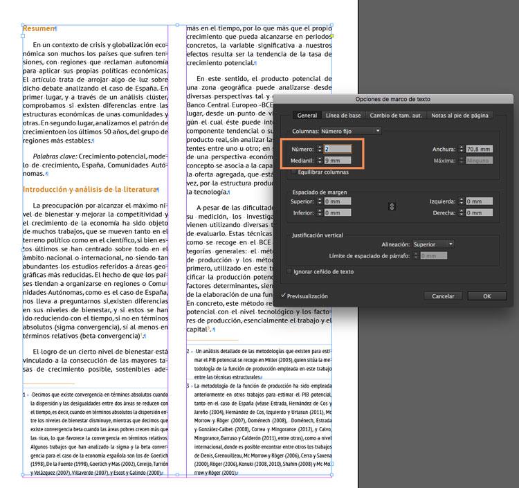 Soltar notas al pie de página en InDesign - profeivan