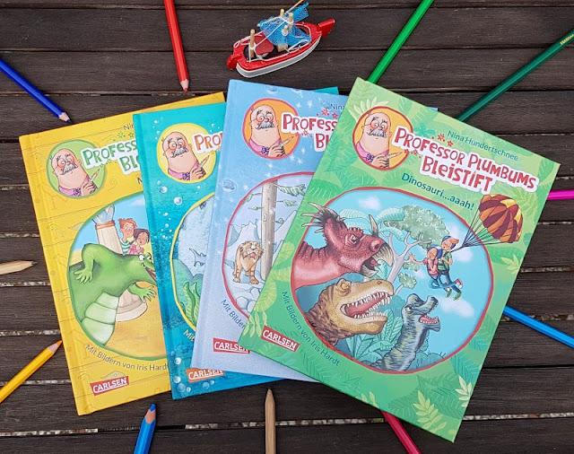 """Heute ein Buch! In der Welt der Phantasie unterwegs mit """"Professor Plumbums Bleistift"""". Zum Welttag des Buches stelle ich Euch die spannende Kinderbuch-Reihe von Nina Hundertschnee rund um den magischen Bleistift vor, von der es die  vier Bände inzwischen auch als Hörbücher bzw. Audio-CDs gibt!"""