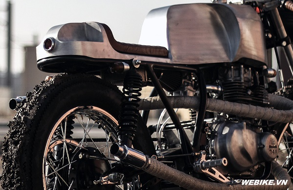 Kawasaki KZ400 độ Cafe Racer cảm hứng từ thập niên 50