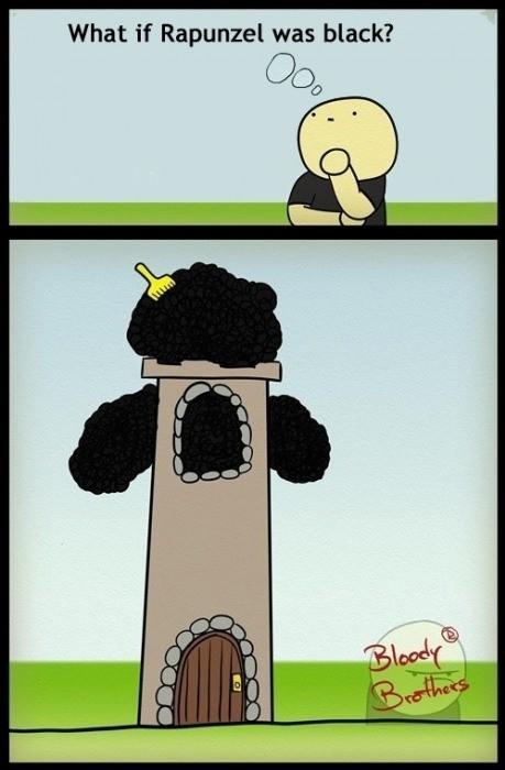 Funny Black Joke - What if Rapunzel was black?