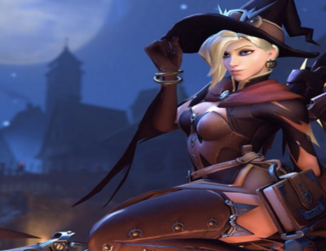 Overwatch: Mercy's Witch Costume Wallpaper Engine